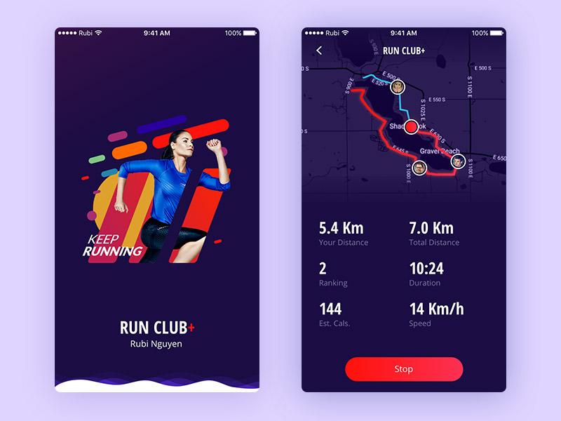 Run App UI Sketch