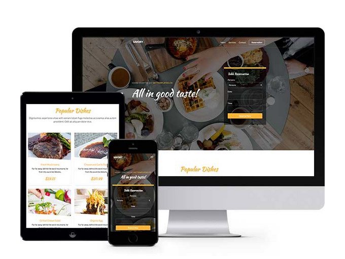 Savory: Free Restaurant HTML5 Template