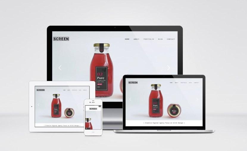 Screen : Simple Portfolio WordPress Theme
