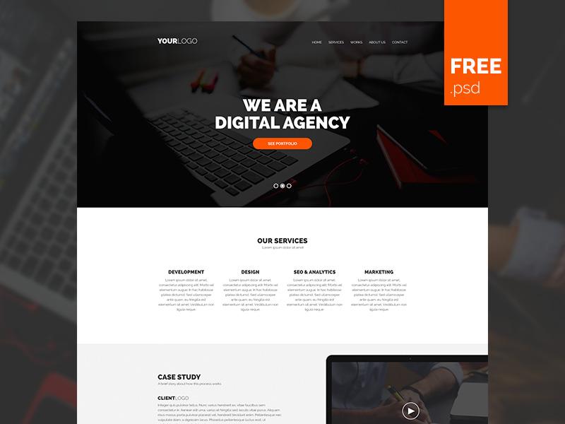 Simple Agency PSD Template