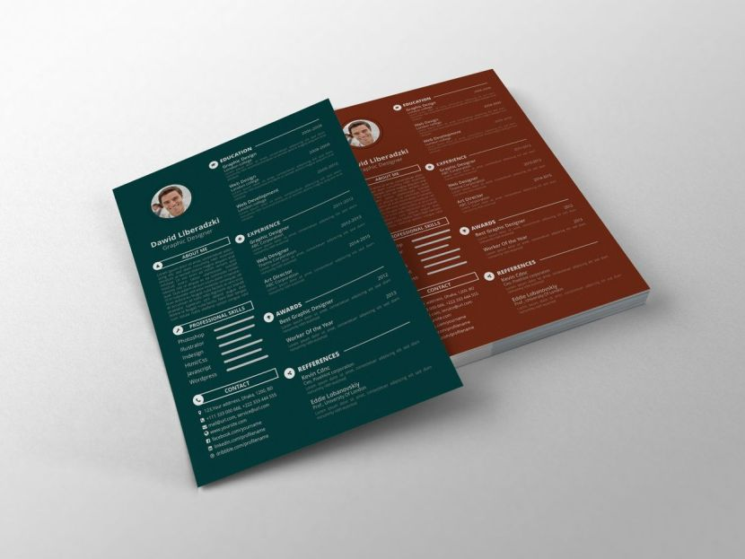 Simple CV Template PSD