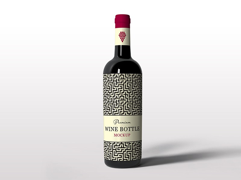 Stylish Wine bottle mockup