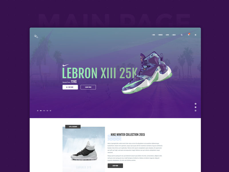 ThrowSneaks – Free Simple Ecommerce PSD Template