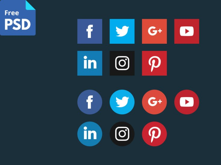 Vector Shape Social Media Icons