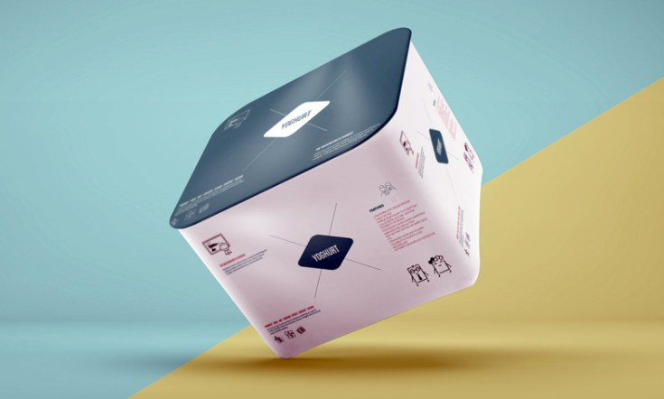Free Yoghurt Packaging Mockup