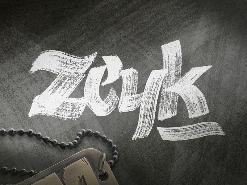 Zeyk : Hand-lettered Brush Typeface
