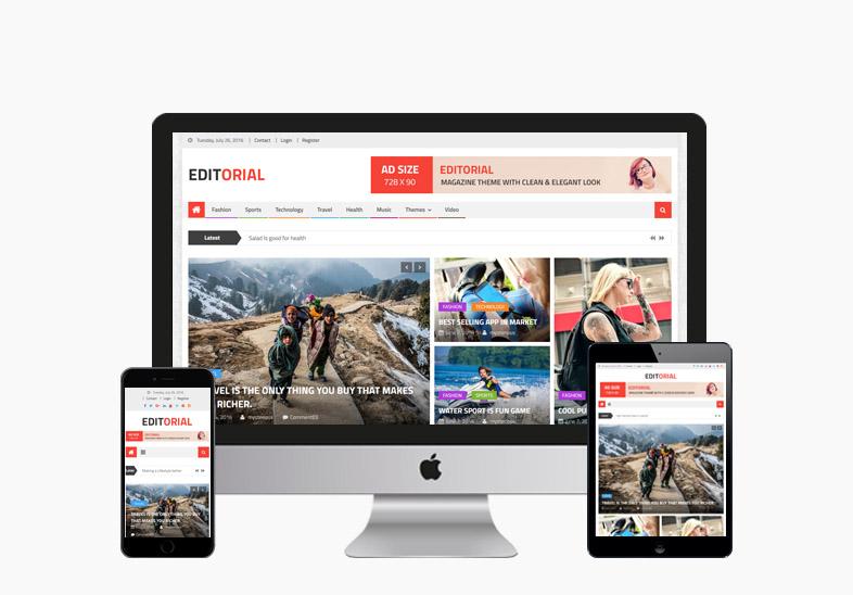 Editorial : Free News Portal WordPress Theme