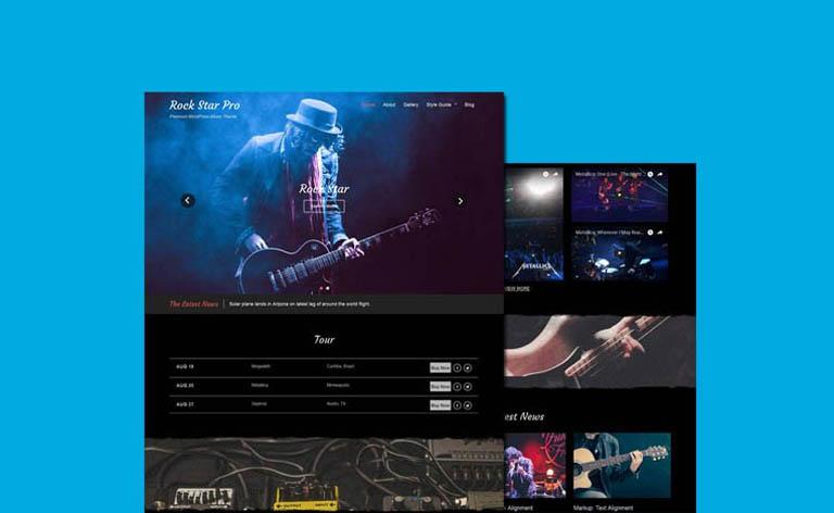 Rock Star: Free Music WordPress Theme
