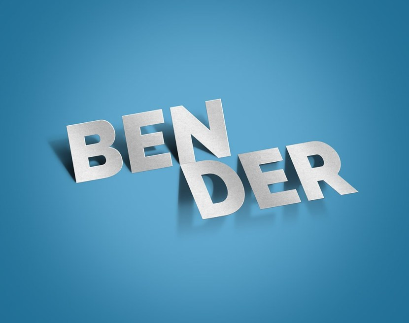 Bender Paper Cut-out Text Effect