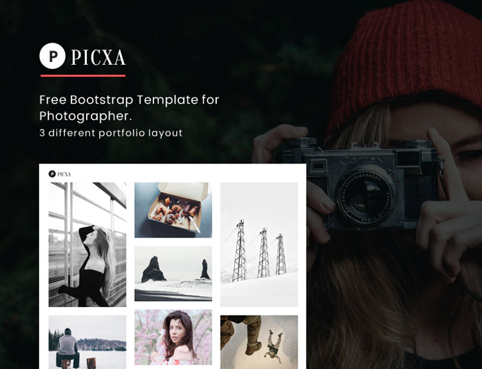 Picxa – Free Photography Bootstrap Template