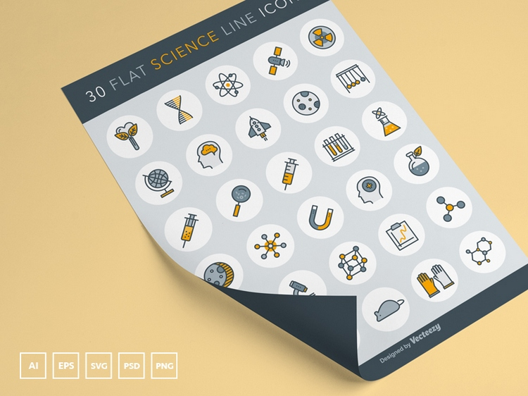 30 Free Vector Science Icons