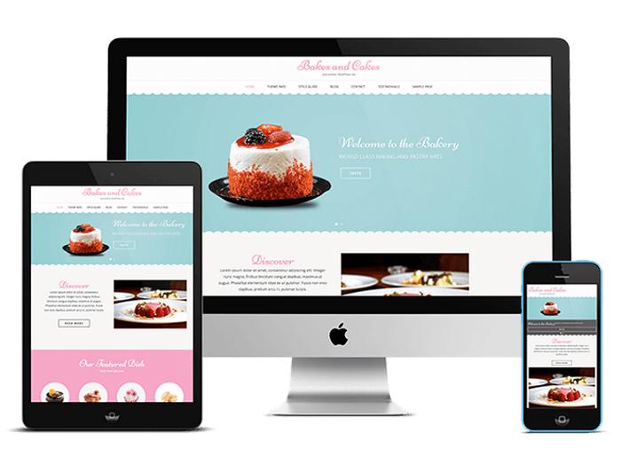 Bakes and Cakes : Free Bakery WordPress Theme