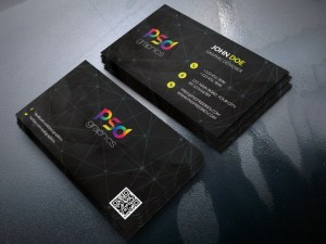 Free Black Business Card Template
