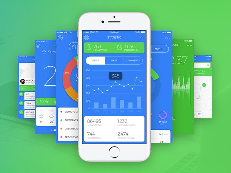Blue Sky Mobile UI Kit