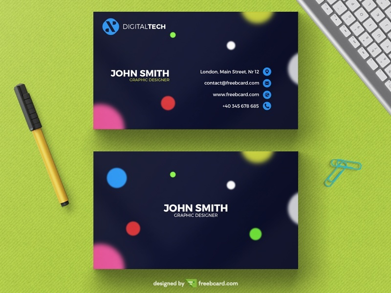 Blurred Circle Business Card Template