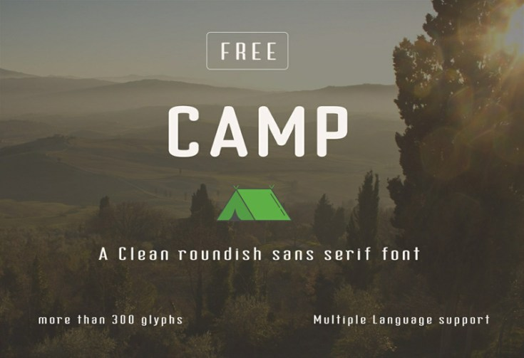 Camp Free Outdoors Typeface
