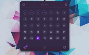 Clean Calendar UI Design