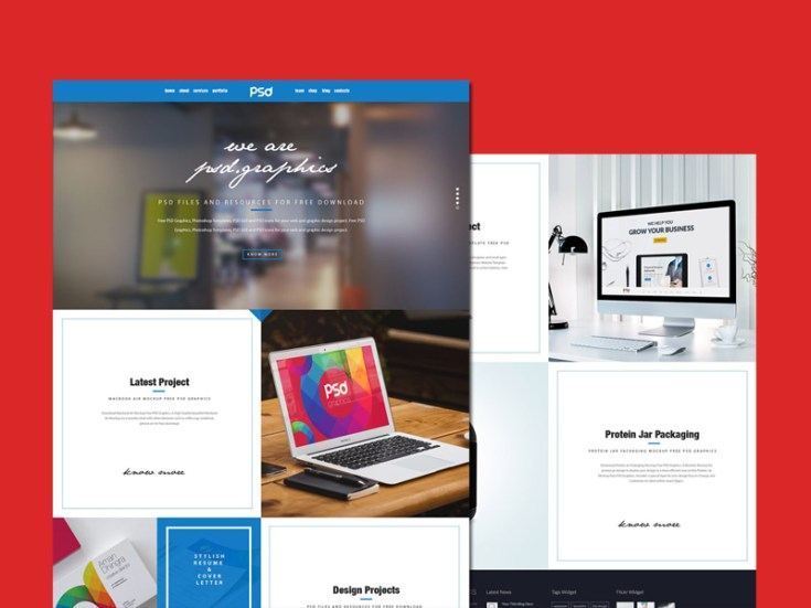 Clean Personal Portfolio PSD Template