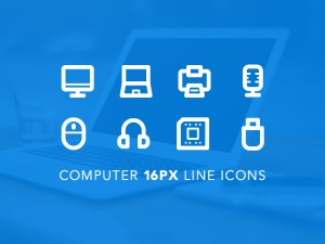 Free Computer Line Icons