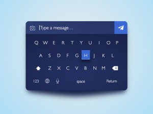 Dark Keyboard UI Design