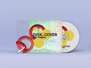 Free Disk Cover Psd Mockup