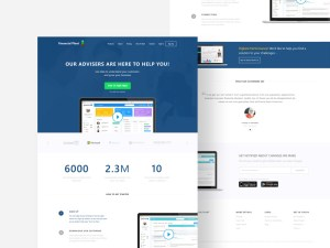 Free Financial PSD Website Template