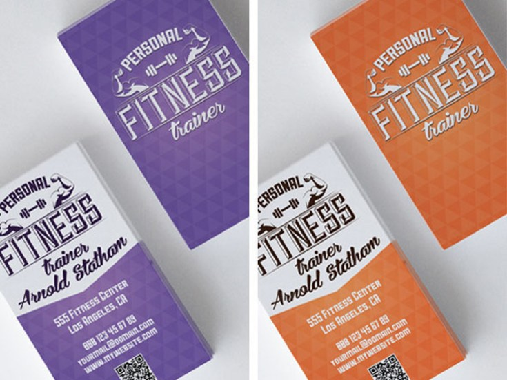 Free Fitness Business Card Template