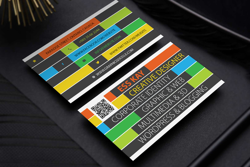 Free Colorful Business Card Template (Illustrator)