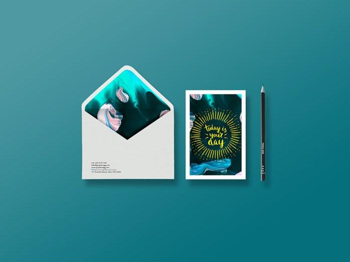 Free Psd Postcard Mockup Template Free Download Freebiesjedi