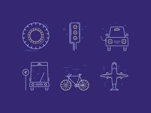 Free Transportation Icon Set
