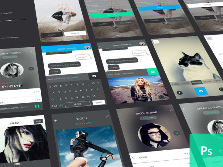 Gravity Free Mobile UI Kit