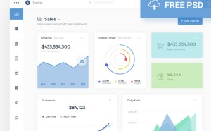 Kavina Dashboard Analytics PSD Template