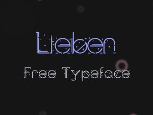 Lieben Free Display Font