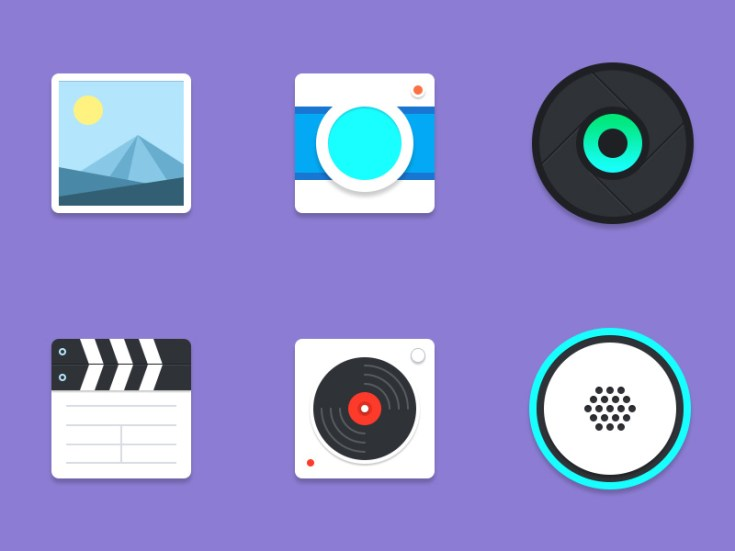 Free Material Multimedia Icons
