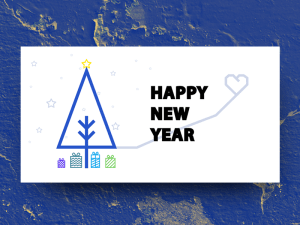 New Year Card Widget PSD