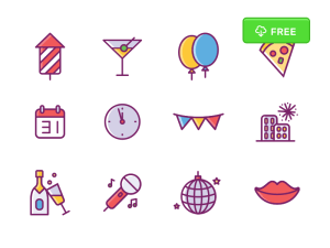 Free New Year Icon Set