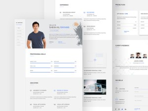 Personal Resume Web Template