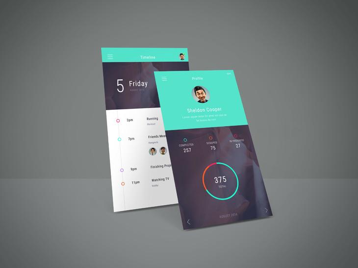 Free Perspective App Screen Mockup