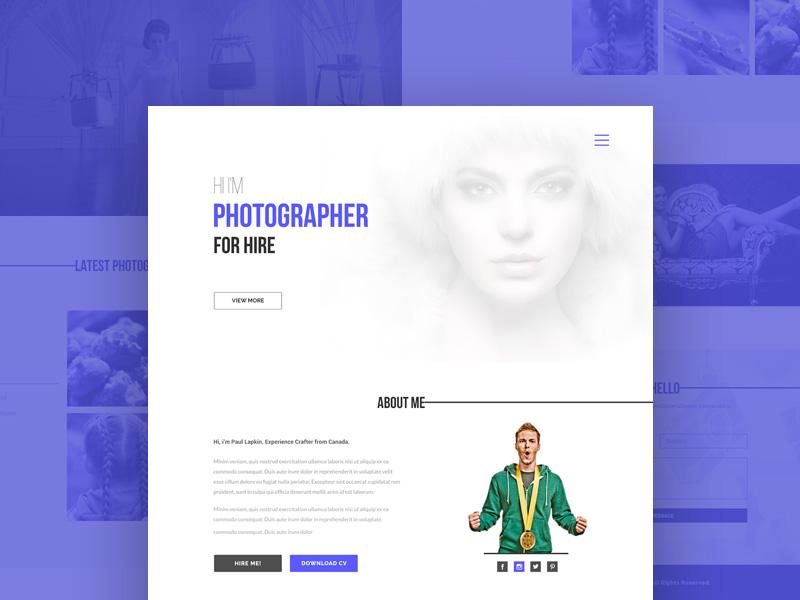 Simple Photographer Portfolio Website