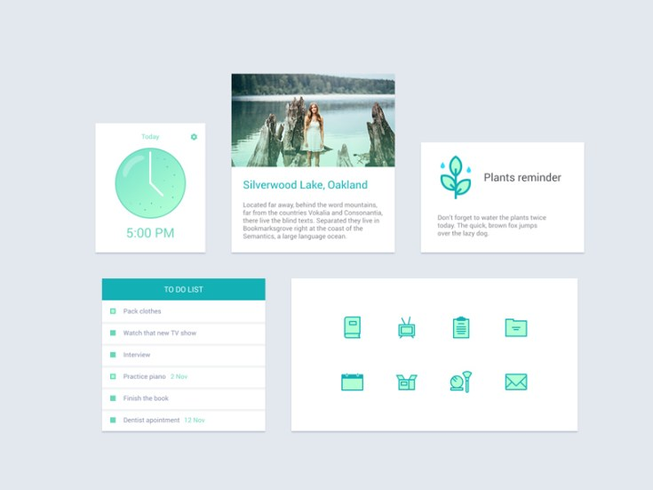 Free Planning Widget UI PSD