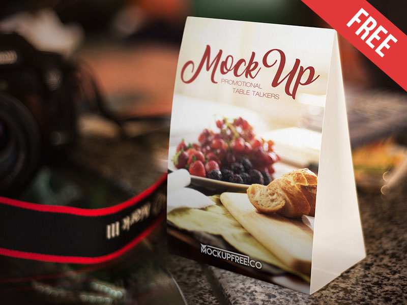 Promotional Table Tents Mockup PSD
