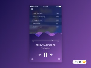 Purple Music Player UI
