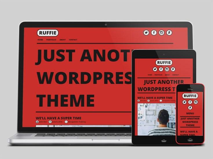 Ruffie : Comic Style Wordpress Theme