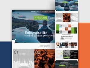 Hyperion : Grid Web Design with Unique Color