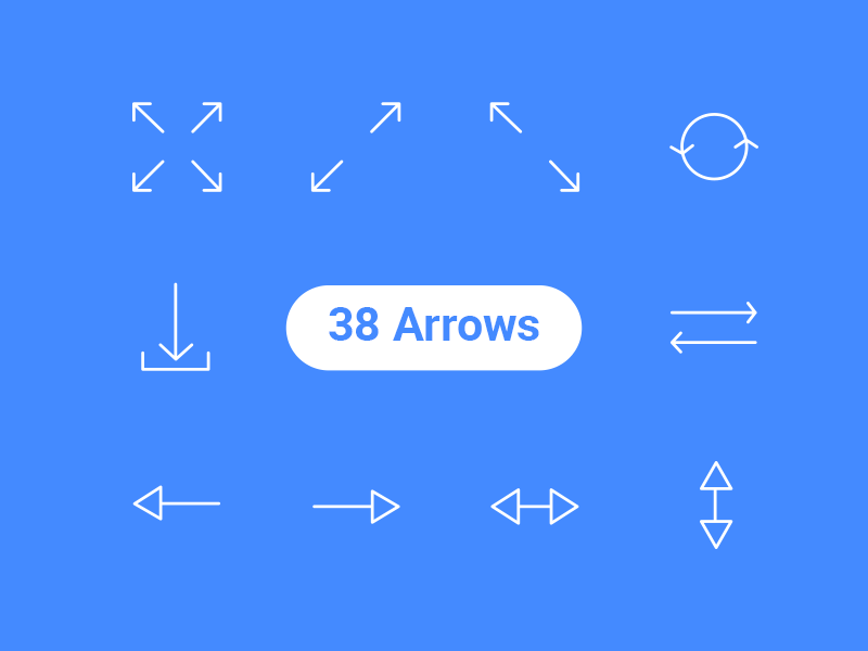 38 Free Arrows Icons