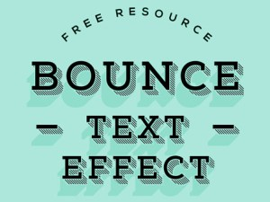 Free Bounce Text Effect PSD