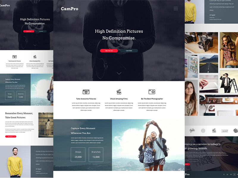 Campro PSD Photography Template