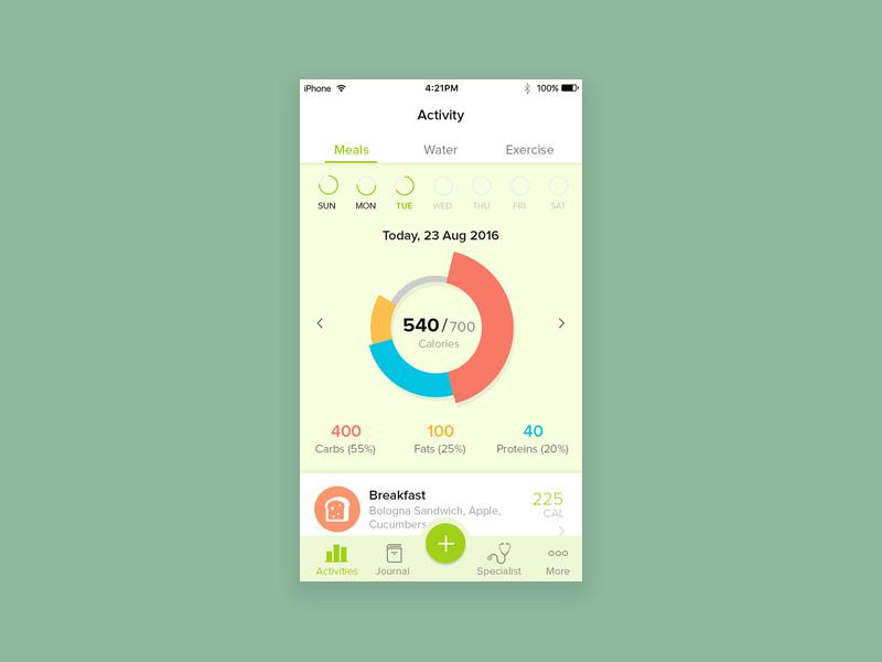 Diet Plann App UI PSD