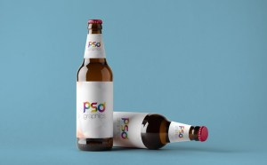 Free Double Beer Bottle Mockup