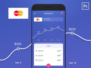 Financial Statistic App UI PSD